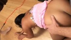Bodacious Indian Hottie Rama Enjoys Her Time Between Two Stiff Cocks