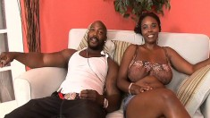 Stacy Adams reveals her amazing curves and goes wild for a black pole