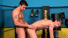 Pretty young boy with great oral skills gets his anal hole worked out