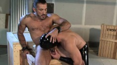 Hot Masked Dude Loves To Pleasure An Attractive Young Fucker