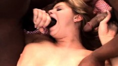 Lisa gets to gobble up a lot of black dicks and get hammered