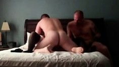 Cuck husband Loves man meat