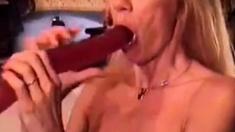 Biggest dildo deepthroat ever