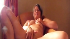 Mature British Milf Teases Her Pussy