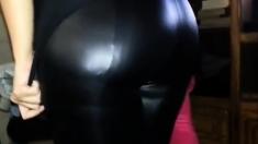 Leggins Legins Lycra Spandex Shiny Tight 1