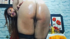 Horny Tranny Fingering her Hot Ass