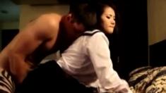 Asian In Schoolgirl Costume Gets The Treatment