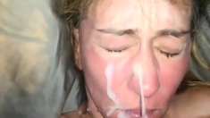Pov Blowjob And Facial On Sweet Brunette