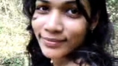 Srilankan Awanthi Nangi Undressing In A Forest