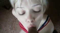 White Teen Takes Indian Cum