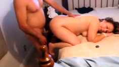 Dude Fucking Mature Girl While Husband Enjoys Watching