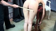 Tied Up Fetish Bondage Bdsm Sub Caned In Bdsm Dungeon